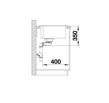 Blanco Pleon 9 523060 Anderhalve Spoelbak Rechts Silgranit Parelgrijs Onderbouw Of Opbouw