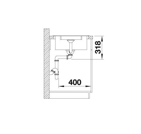Blanco Lexa 5 S 524923 Spoelbak Silgranit Parelgrijs Inclusief Draaiknopbediening Omkeerbaar Onderbouw Of Opbouw