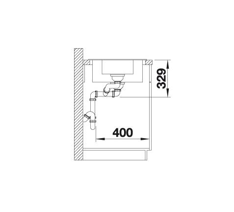 Blanco Sona 6 S 519856 Spoelbak Silgranit Jasmijn Omkeerbaar Onderbouw Of Opbouw