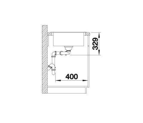 Blanco Sona 8 S 519702 Dubbele Spoelbak Silgranit Jasmijn Omkeerbaar Onderbouw Of Opbouw