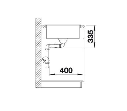 Blanco Zia 9 516686 Dubbele Spoelbak Silgranit Antraciet Onderbouw Of Opbouw