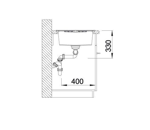 Blanco Zia 8 S 515597 Dubbele Spoelbak Silgranit Wit Omkeerbaar Onderbouw Of Opbouw