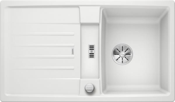 Blanco Lexa 45 S 524904 Spoelbak Silgranit Wit Inclusief Draaiknopbediening Omkeerbaar Onderbouw Of Opbouw