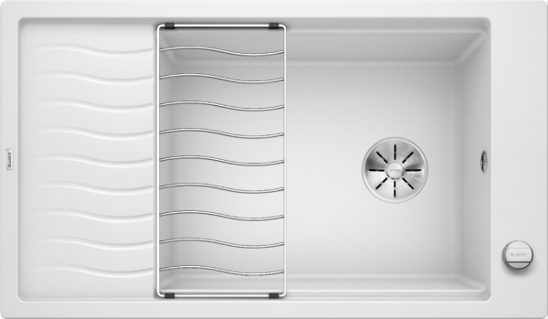 Blanco Elon Xl 8 S 524864 Spoelbak Silgranit Wit Inclusief Draaiknopbediening Inclusief Rooster Omkeerbaar Onderbouw Of Opbouw