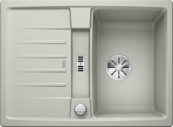 Blanco Lexa 40 S 524883 Spoelbak Silgranit Parelgrijs Inclusief Draaiknopbediening Omkeerbaar Onderbouw Of Opbouw
