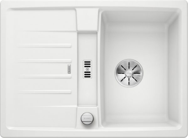 Blanco Lexa 40 S 524884 Spoelbak Silgranit Wit Inclusief Draaiknopbediening Omkeerbaar Onderbouw Of Opbouw