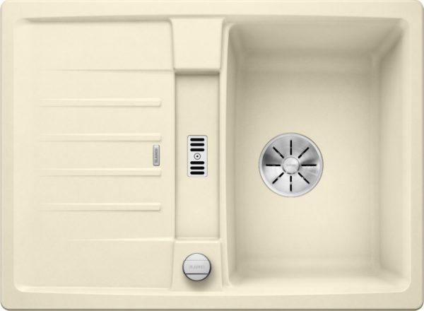 Blanco Lexa 40 S 524885 Spoelbak Silgranit Jasmijn Inclusief Draaiknopbediening Omkeerbaar Onderbouw Of Opbouw