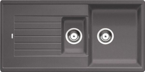 Blanco Zia 6 S 518940 Spoelbak Silgranit Rotsgrijs Omkeerbaar Onderbouw Of Opbouw