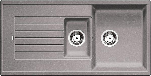 Blanco Zia 6 S 514741 Spoelbak Silgranit Aluminium Metallic Omkeerbaar Onderbouw Of Opbouw