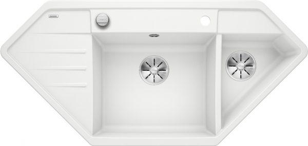 Blanco Lexa 9 E 524994 Spoelbak Silgranit Wit Inclusief Draaiknopbediening Onderbouw Of Opbouw