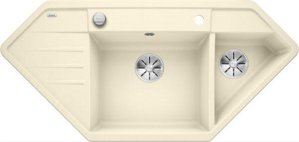 Blanco Lexa 9 E 524995 Spoelbak Silgranit Jasmijn Inclusief Draaiknopbediening Onderbouw Of Opbouw