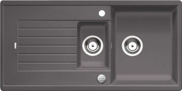 Blanco Zia 6 S 518939 Spoelbak Silgranit Rotsgrijs Inclusief Draaiknopbediening Omkeerbaar Onderbouw Of Opbouw