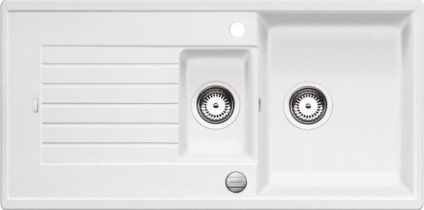 Blanco Zia 6 S 514734 Spoelbak Silgranit Wit Inclusief Draaiknopbediening Omkeerbaar Onderbouw Of Opbouw