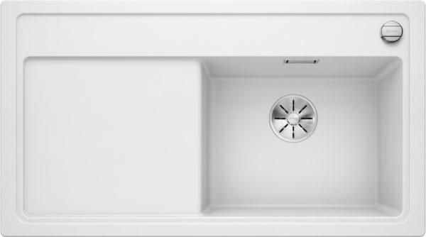 Blanco Zenar 5 S 523938 Spoelbak Silgranit Wit Inclusief Draaiknopbediening Onderbouw Of Opbouw