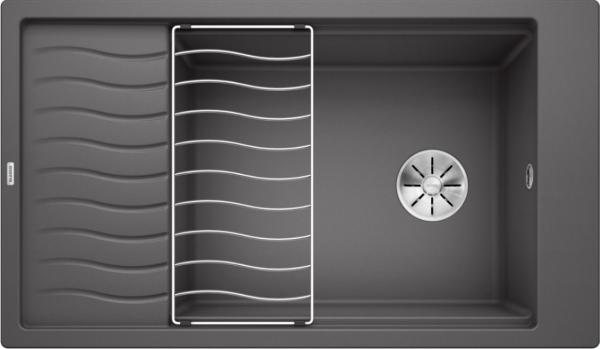 Blanco Elon Xl 8 S 524871 Spoelbak Silgranit Rotsgrijs Inclusief Rooster Omkeerbaar Onderbouw Of Opbouw