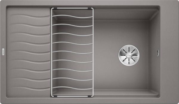 Blanco Elon Xl 8 S 524872 Spoelbak Silgranit Aluminium Metallic Inclusief Rooster Omkeerbaar Onderbouw Of Opbouw