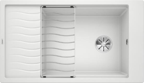 Blanco Elon Xl 8 S 524874 Spoelbak Silgranit Wit Inclusief Rooster Omkeerbaar Onderbouw Of Opbouw