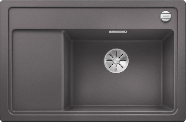 Blanco Zenar Xl 6 S Compact 523775 Spoelbak Rechts Silgranit Rotsgrijs Inclusief Draaiknopbediening Onderbouw Of Opbouw