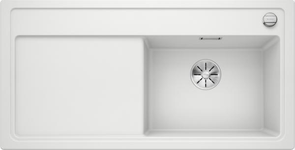 Blanco Zenar Xl 6 S Steamerplus 524056 Spoelbak Rechts Silgranit Wit Inclusief Draaiknopbediening Inclusief Houten Snijplank Onderbouw Of Opbouw
