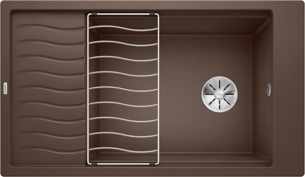 Blanco Elon Xl 8 S 524879 Spoelbak Silgranit Café Inclusief Rooster Omkeerbaar Onderbouw Of Opbouw