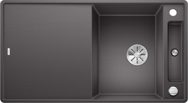 Blanco Axia Iii 5 S-F 523226 Spoelbak Silgranit Rotsgrijs Inclusief Draaiknopbediening Inclusief Houten Snijplank Omkeerbaar Vlakbouw Of Onderbouw