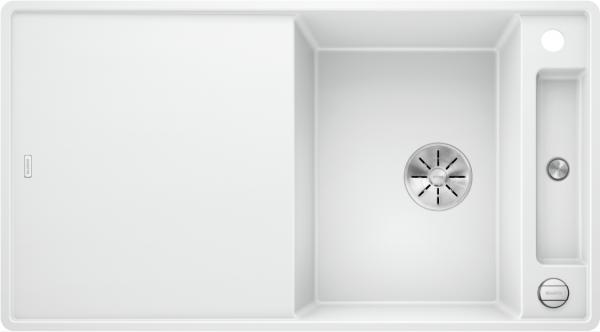Blanco Axia Iii 5 S-F 523228 Spoelbak Silgranit Wit Inclusief Draaiknopbediening Inclusief Houten Snijplank Omkeerbaar Vlakbouw Of Onderbouw