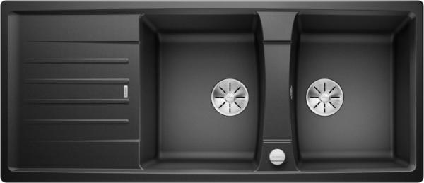 Blanco Lexa 8 S 524970 Dubbele Spoelbak Silgranit Antraciet Inclusief Draaiknopbediening Omkeerbaar Onderbouw Of Opbouw