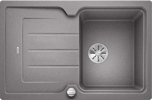 Blanco Classic Neo 45 S 524000 Spoelbak Silgranit Aluminium Metallic Inclusief Draaiknopbediening Inclusief Snijplank Opbouw