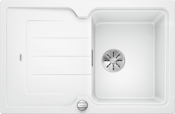 Blanco Classic Neo 45 S 524008 Spoelbak Silgranit Wit Inclusief Draaiknopbediening Inclusief Snijplank Opbouw