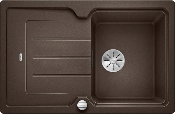 Blanco Classic Neo 45 S 524014 Spoelbak Silgranit Café Inclusief Draaiknopbediening Inclusief Snijplank Opbouw