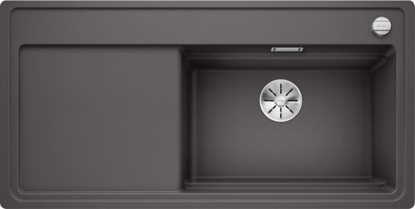 Blanco Zenar Xl 6 S-F Steamerplus 524099 Spoelbak Silgranit Rotsgrijs Inclusief Draaiknopbediening Inclusief Glazen Snijplank Vlakbouw Of Onderbouw