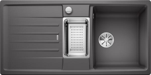 Blanco Lexa 6 S 524931 Spoelbak Silgranit Rotsgrijs Inclusief Draaiknopbediening Inclusief Accessoires Omkeerbaar Onderbouw Of Opbouw