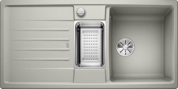 Blanco Lexa 6 S 524933 Spoelbak Silgranit Parelgrijs Inclusief Draaiknopbediening Inclusief Accessoires Omkeerbaar Onderbouw Of Opbouw