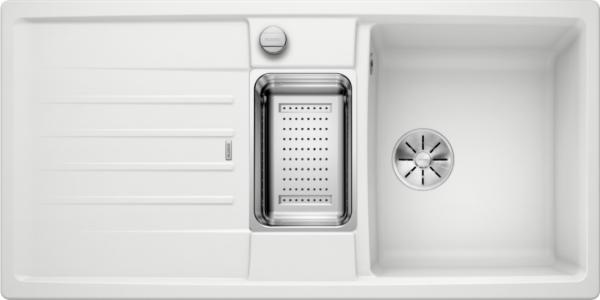 Blanco Lexa 6 S 524934 Spoelbak Silgranit Wit Inclusief Draaiknopbediening Inclusief Accessoires Omkeerbaar Onderbouw Of Opbouw