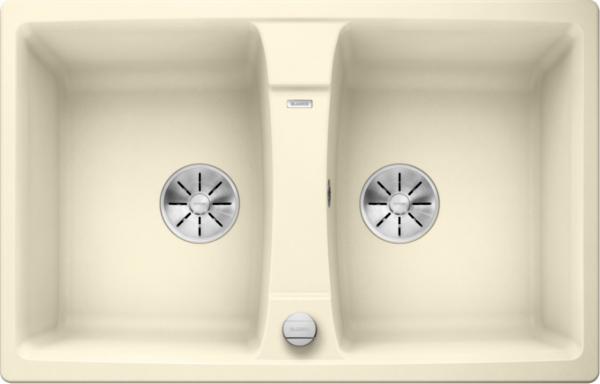 Blanco Lexa 8 524955 Dubbele Spoelbak Silgranit Jasmijn Inclusief Draaiknopbediening Omkeerbaar Onderbouw Of Opbouw