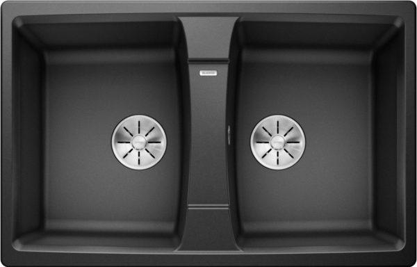 Blanco Lexa 8 524960 Dubbele Spoelbak Silgranit Antraciet Omkeerbaar Onderbouw Of Opbouw
