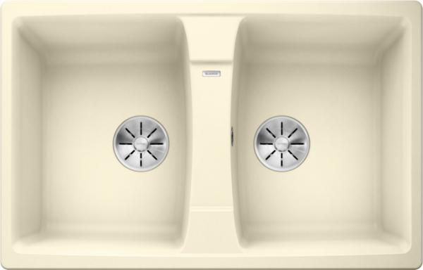 Blanco Lexa 8 524965 Dubbele Spoelbak Silgranit Jasmijn Omkeerbaar Onderbouw Of Opbouw