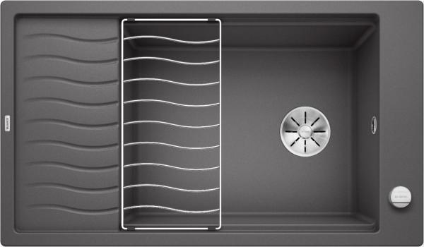 Blanco Elon Xl 8 S 524861 Spoelbak Silgranit Rotsgrijs Inclusief Draaiknopbediening Inclusief Rooster Omkeerbaar Onderbouw Of Opbouw