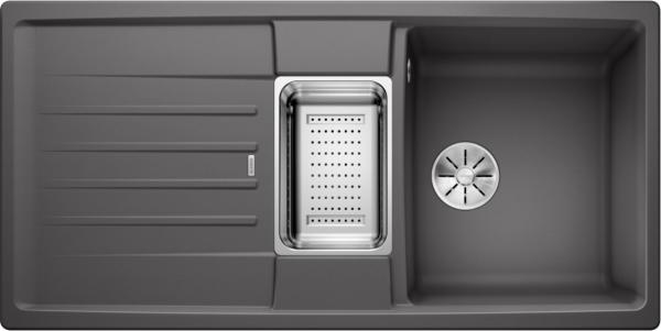 Blanco Lexa 6 S 524941 Spoelbak Silgranit Rotsgrijs Inclusief Accessoires Omkeerbaar Onderbouw Of Opbouw