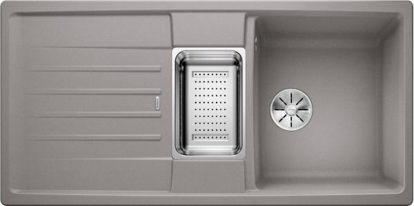 Blanco Lexa 6 S 524942 Spoelbak Silgranit Aluminium Metallic Inclusief Accessoires Omkeerbaar Onderbouw Of Opbouw