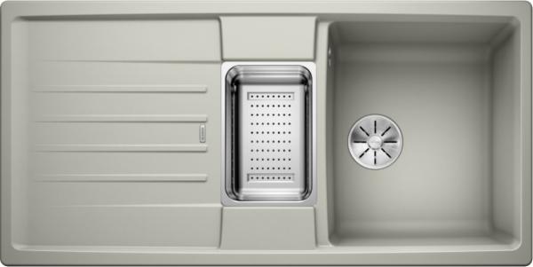 Blanco Lexa 6 S 524943 Spoelbak Silgranit Parelgrijs Inclusief Accessoires Omkeerbaar Onderbouw Of Opbouw