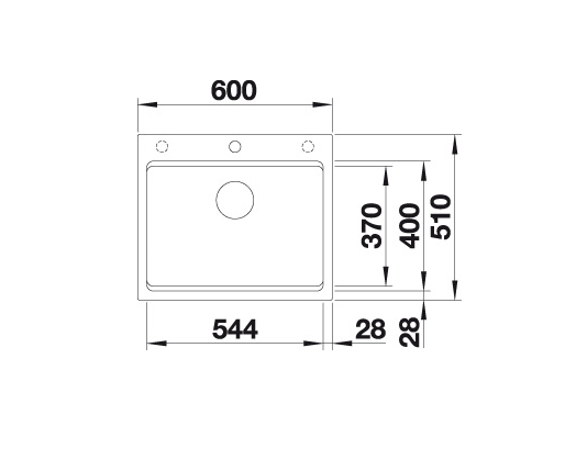 Blanco Etagon 6 524544 Spoelbak Silgranit Jasmijn Inclusief Rails Opbouw