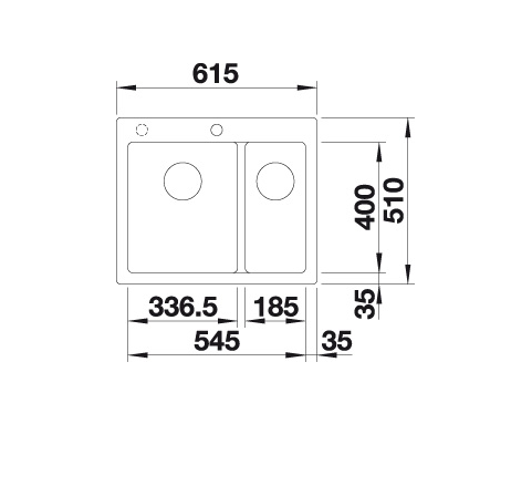 Blanco Pleon 6 Split 521694 Anderhalve Spoelbak Links Silgranit Jasmijn Onderbouw Of Opbouw