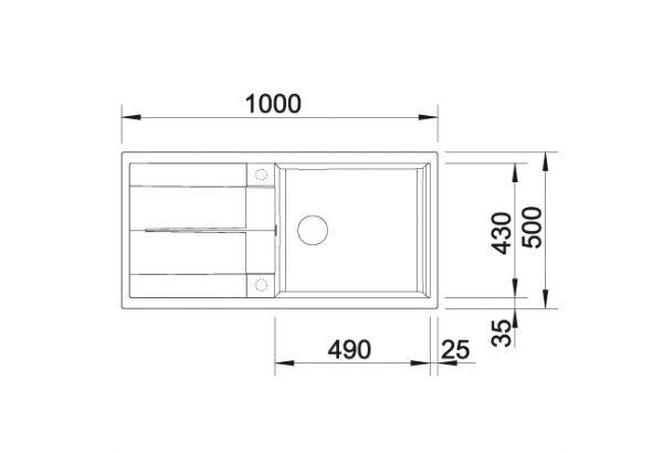 Blanco Metra Xl 6 S 517359 Spoelbak Silgranit Tartufo Omkeerbaar Onderbouw Of Opbouw