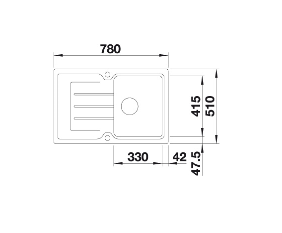 Blanco Classic Neo 45 S 524012 Spoelbak Silgranit Tartufo Inclusief Draaiknopbediening Inclusief Snijplank Opbouw