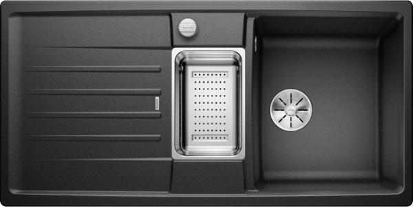 Blanco Lexa 6 S 524930 Spoelbak Silgranit Antraciet Inclusief Draaiknopbediening Inclusief Accessoires Omkeerbaar Onderbouw Of Opbouw