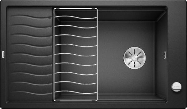 Blanco Elon Xl 8 S 524860 Spoelbak Silgranit Antraciet Inclusief Draaiknopbediening Inclusief Rooster Omkeerbaar Onderbouw Of Opbouw