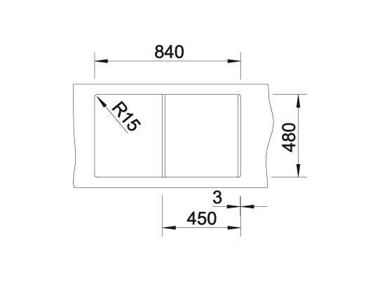 Blanco Lexa 45 S 524913 Spoelbak Silgranit Parelgrijs Omkeerbaar Onderbouw Of Opbouw