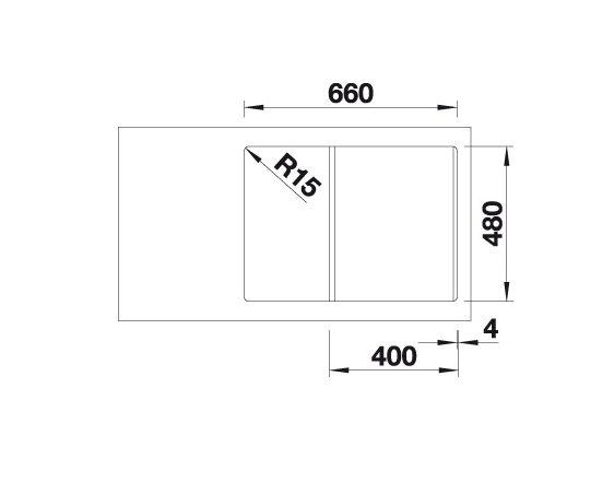 Blanco Lexa 40 S 524881 Spoelbak Silgranit Rotsgrijs Inclusief Draaiknopbediening Omkeerbaar Onderbouw Of Opbouw