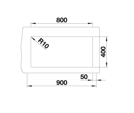 Blanco Subline 800-U 523142 Spoelbak Silgranit Rotsgrijs Onderbouw